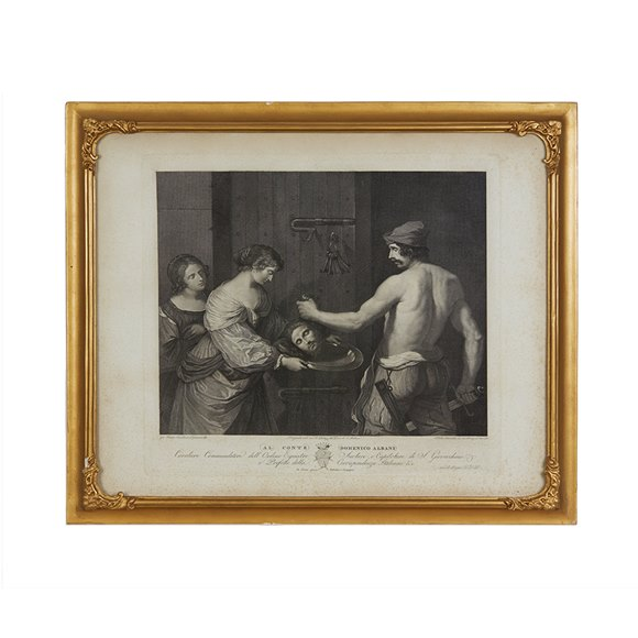Copper Print By Guercino Printed By Francesco Rainaldi 1796