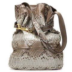 Chloe Taupe Python Leather Joan Bucket Bag