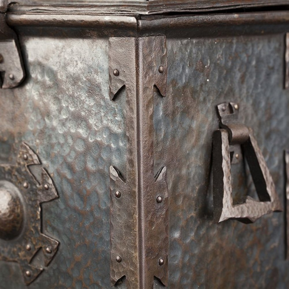 Bronzed Scottish School Tea Caddy Circa 1890