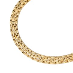 Cartier 18k Yellow Gold Oval Link Diamond Maillon Collar Necklace