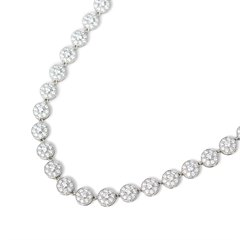 Tiffany & Co. Platinum Diamond Statement Circlet Necklace
