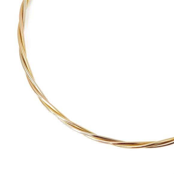 Cartier 18k Yellow, White & Rose Gold Twist Design Necklace