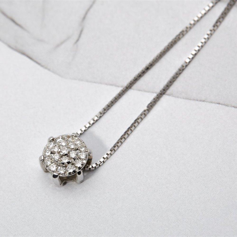 Chimento Margherita 18K White Gold Diamond Pendant Necklace