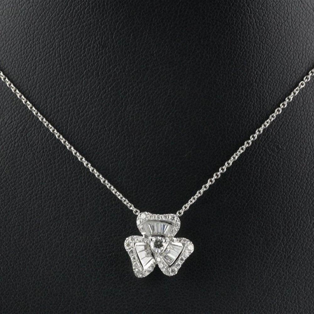 Mappin & Webb Fire & Ice Clover Diamond Pendant Necklace