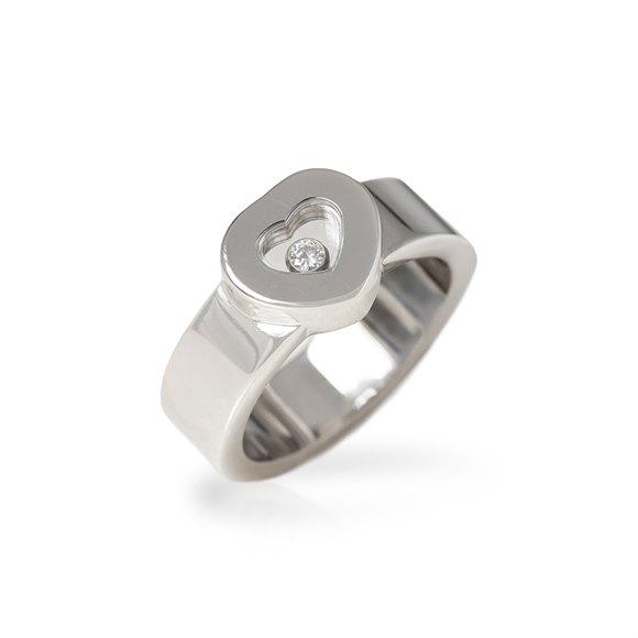 Chopard 18k White Gold Heart Happy Diamonds Ring
