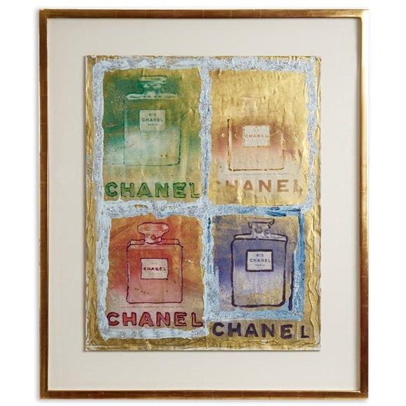 PIETRO PSAIER CHANEL PERFUME BOTTLES MIXED MEDIA 1970's