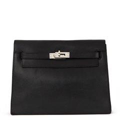 Hermès Black Swift Leather Kelly Danse