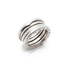 Bulgari 18k White Gold B.Zero 1 Band Ring