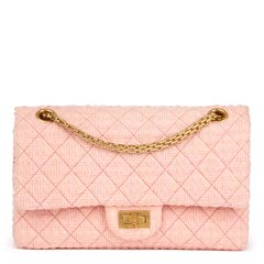 Chanel Pink Quilted Tweed 2.55 Reissue 225 Double Flap Bag