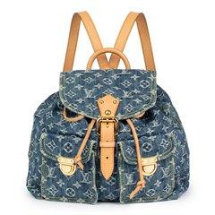 Louis Vuitton Blue Monogram Denim Backpack PM
