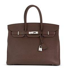 Hermès Chocolate Togo Leather Birkin 35cm