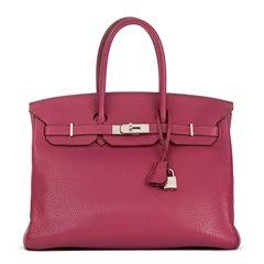 Hermès Tosca Clemence Leather Birkin 35cm