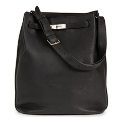 Hermès Black Togo Leather So Kelly 26cm