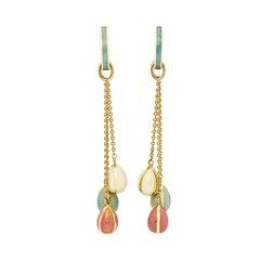 Fabergé 18k Yellow Gold Enamel Egg Drop Earrings
