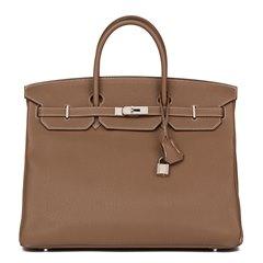 Hermès Etoupe Togo Leather Birkin 40cm
