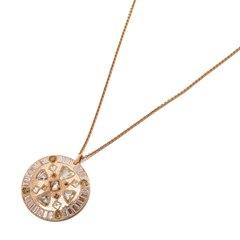 De Beers 18k Rose Gold Diamond Hope Talisman Necklace